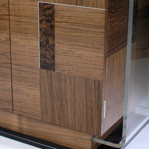 Inlay design on wood