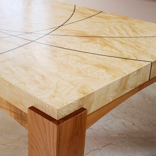 Coffee table - detail of craftsmanship