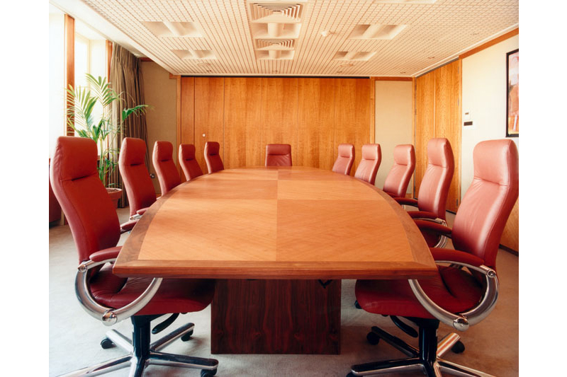 Bespoke Boardroom Table - Cherry With Walnut Detail