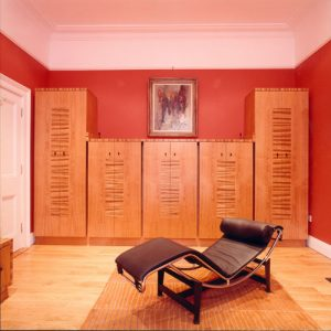 Hidden Filing Cabinets - Bespoke design - Marquetry - Home Office