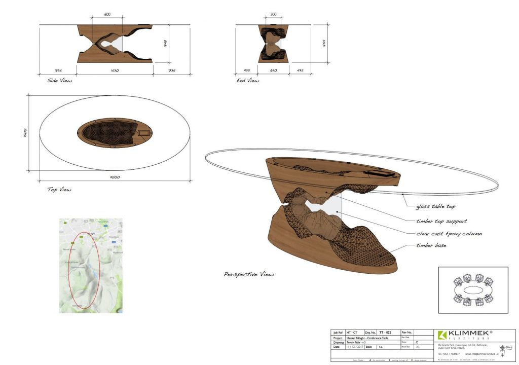 Sculpted Table - Concept Drawings