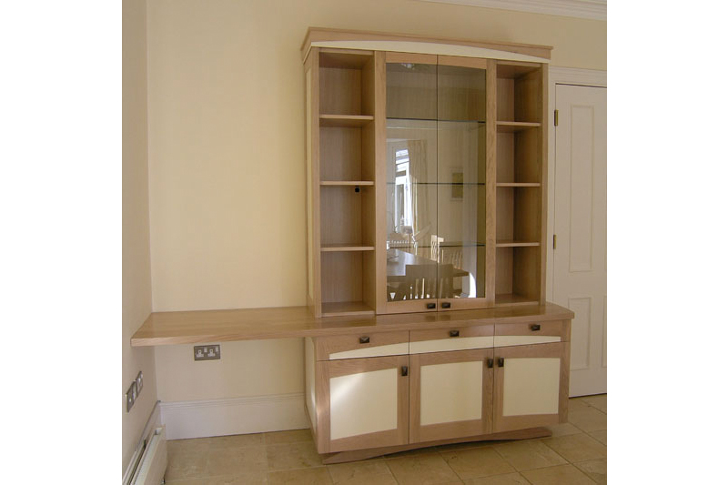 County Kitchen cabinet- Oak With painted detail