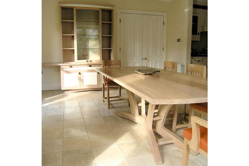 Solid Oak Dining Table from Klimmek Furniture