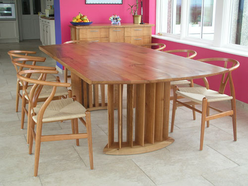 Bespoke dining table - European Cherry -Seats 8-10 -Lark