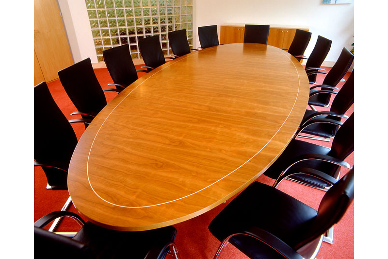 Oval Meeting Table - Cherry with Maple inlay - n'Spire Suite