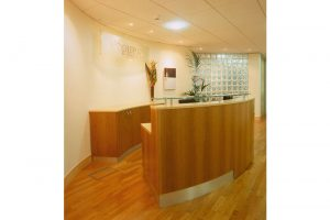 Reception Desk and Sideboard - Cherry and Maple