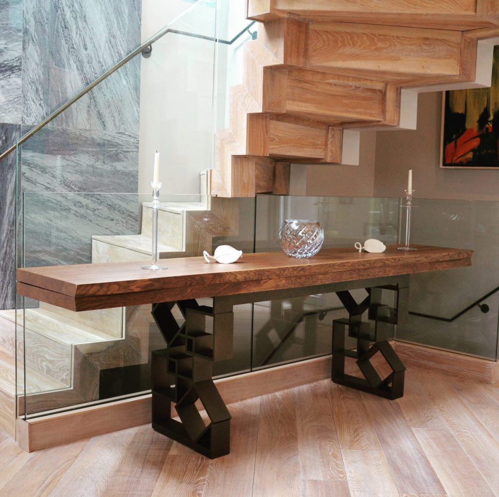 Bespoke Dining Table - solid wood - raw edge