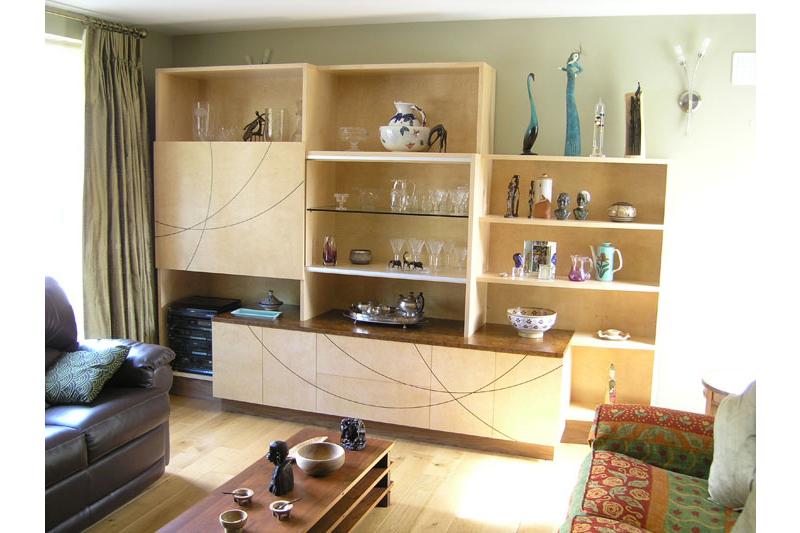 Cabinet - hand made - Cluster Ash- Walnut - Inlay - Bespoke
