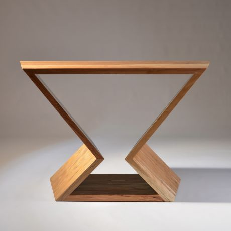 Console table in native spalted beech