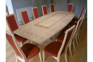 Elegant Dining Table and Chairs - Bespoke Design - Glasgow Style - Cluster Ash -European Cherry
