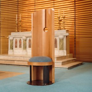 Church Chair - solid cherry - patinated Brass - bespoke furniture