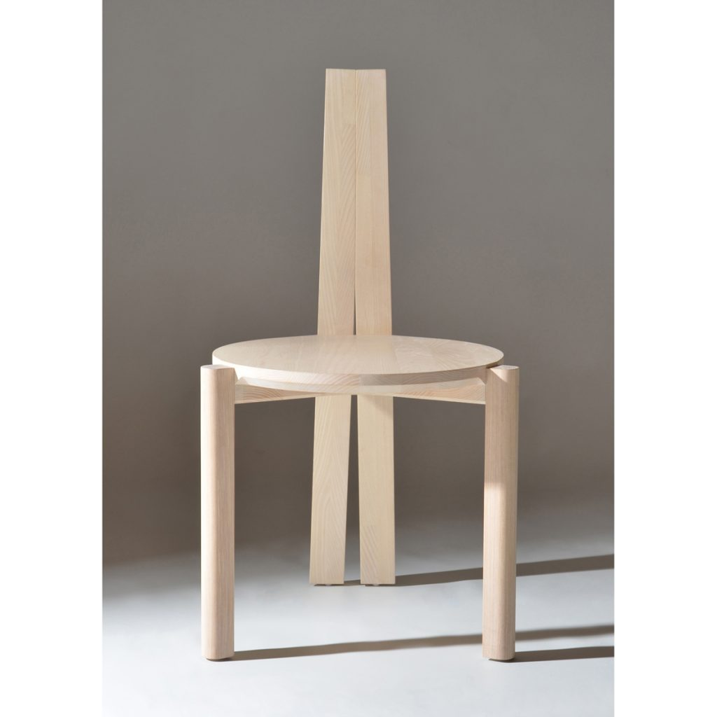 Stave Chair - Front view- Solid timber_Stacking_Made in Ireland