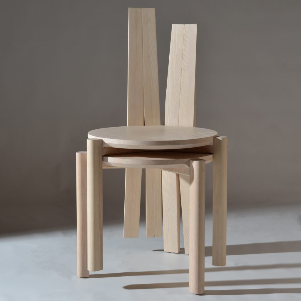 Stacking chairs in Ash - available in 2 finishes - Handmade in Ireland