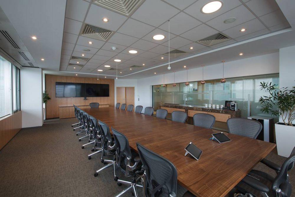 20 seater Boardroom Table in figured European walnut