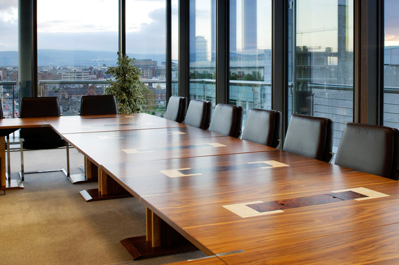 Boardroom tables - modular - 2 rooms - Power And Data Access points - Marquetry