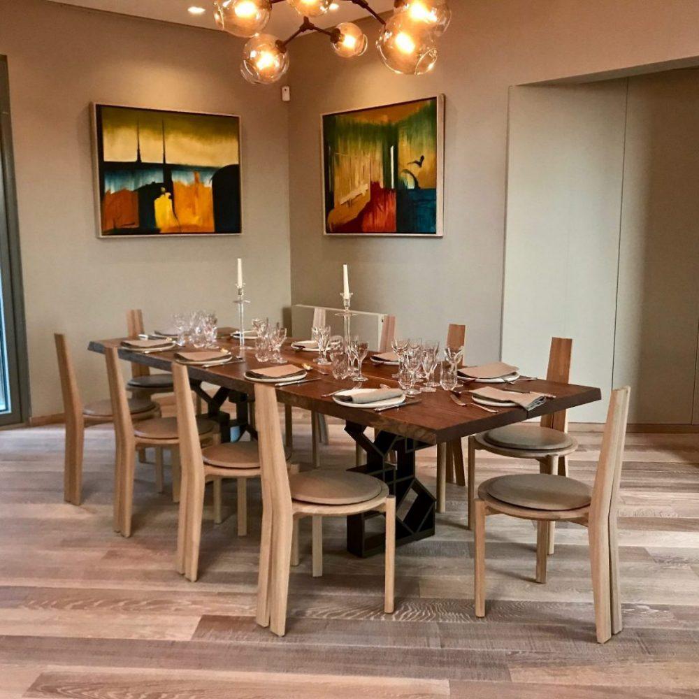 Solid Oak Dining Table designed and handmade by Klimmek Furniture